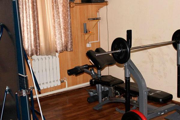 Спортзал в реабилитационном центре «Воля» (Иркутск)