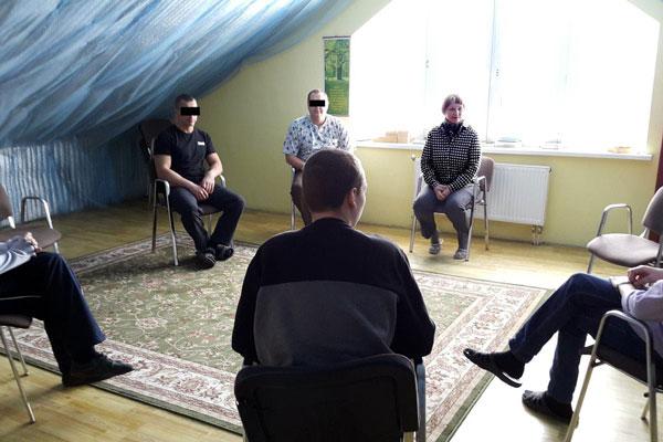 Занятие постояльцев в группах в реабилитационном центре «Зебра» Москва