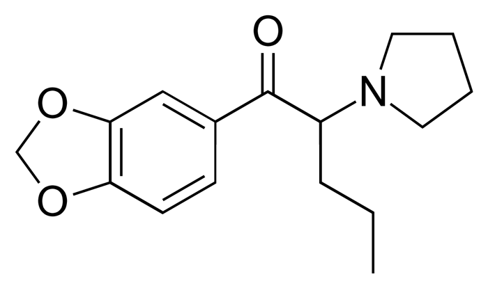 Химическая формула Метилендиоксипировалерона
