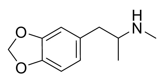 Химическая формула метилендиоксиметамфетамина