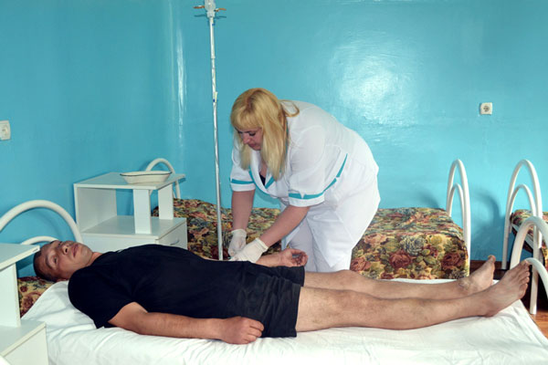 Лечение больного в Харьковской областной клинической наркологической больнице