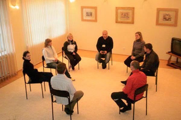 Групповые занятия постояльцев в Набережночелнинском наркологическом диспансере