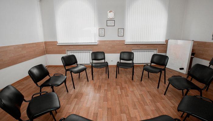 Зал для групповых занятий в наркологической клинике «Миннесота» Саратов