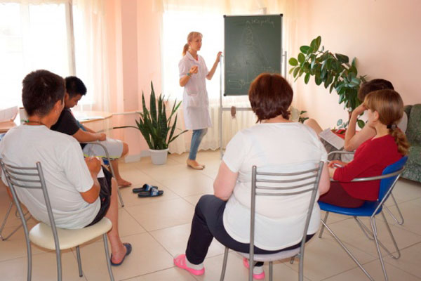 Групповые занятия постояльцев в Наркологическом диспансере республики Бурятия