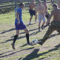 Игра постояльцев в футбол в реабилитационном центре «Твой мир» Красноярск