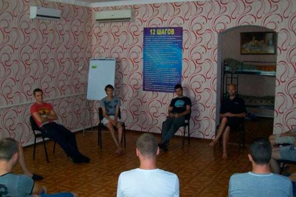 Групповые занятия постояльцев в реабилитационном центре «Виктори» Днепр