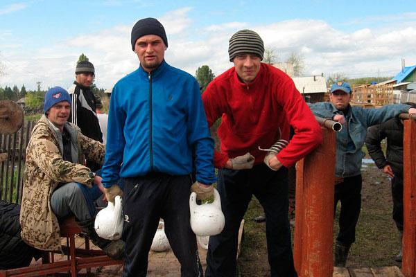 Спортивные занятия постояльцев в реабилитационном наркологическом центре «Пегас» в Красноярске