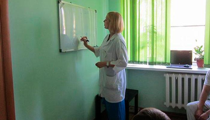 Лекция для постояльцев в Рязанском областном клиническом наркологическом диспансере