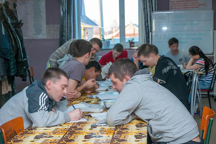 Групповые занятия в реабилитационном центре Развитие
