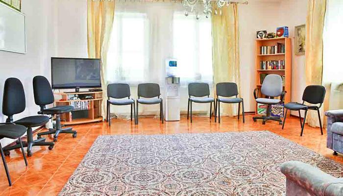 Зал для занятий в Наркологическом центре «Добро» Киев