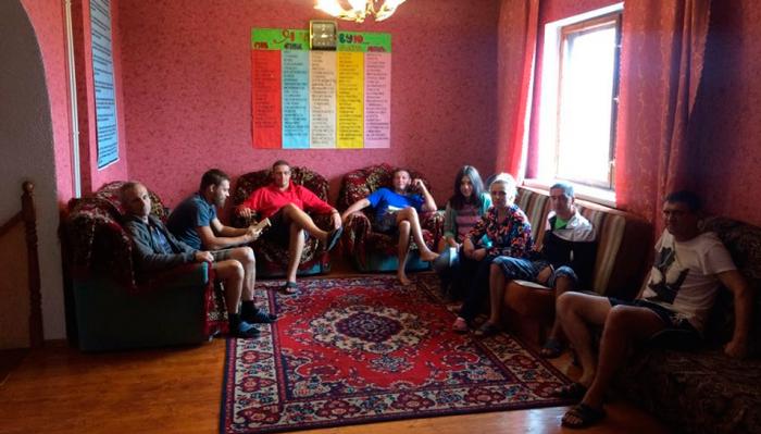 Групповые занятия постояльцев в реабилитационном центре «Кристалл» Воронеж