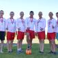 Игра постояльцев в футбол в реабилитационном центре «Олимп» Барнаул