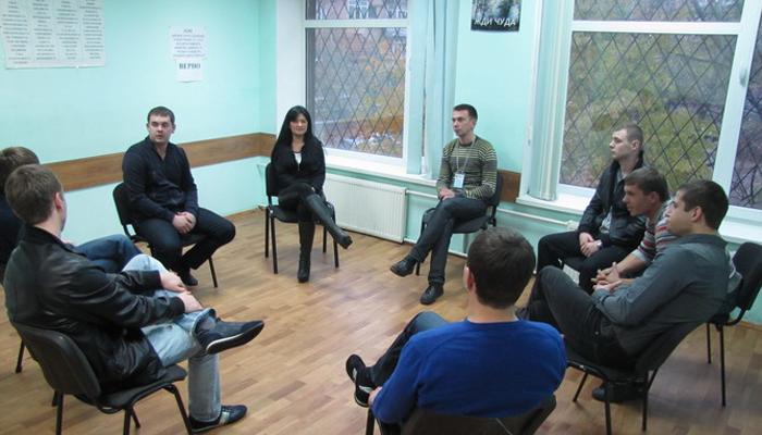 Групповые занятия постояльцев в реабилитационном центре «Ступени» Киев