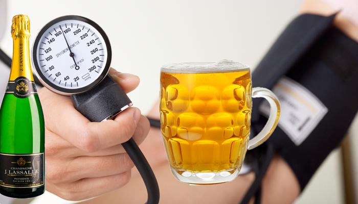 Повышение давления после употребления пива или шампанского