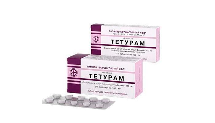 Препарат Тетурам для вызова негативной реакции на спиртное