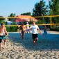 Игра постояльцев в волейбол в реабилитационном центре «Первый шаг» (Брянск)