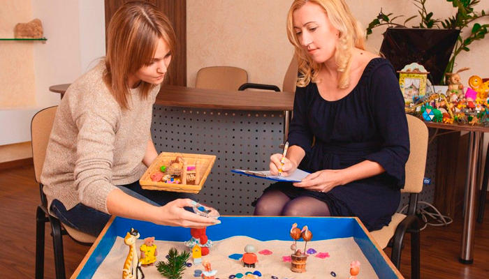 Занятия с психологом в реабилитационном центре «Полинар» (Одесса)