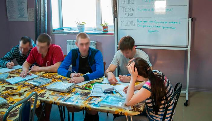Занятия постояльцев в реабилитационном центре «Развитие» (Киров)