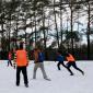 Игра постояльцев в футбол в реабилитационном наркологическом центре «Вершина-Архангельск»