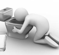 Рвота с желчью после приема алкоголя