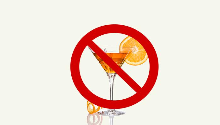 Исключение алкогольных напитков из рациона при аллергии на них