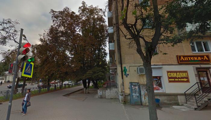 Расположение медицинского центра «Доверие» в Пскове