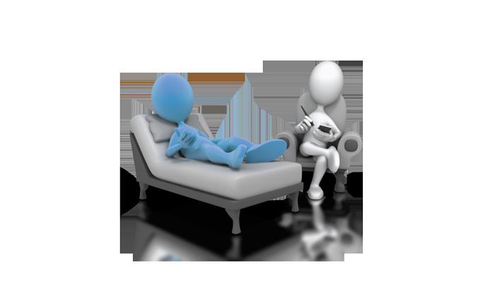 Занятие психотерапевта с зависимым