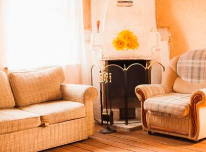 Гостиная в реабилитационном центре «Горизонт» (Екатеринбург)
