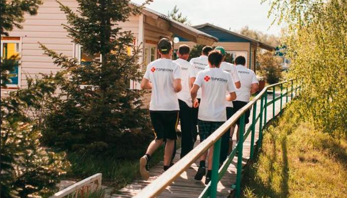 Двор реабилитационного наркологического центра «Горизонт» (Воронеж)