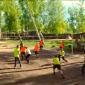 Игра постояльцев в волейбол в реабилитационном наркологическом центре «Горизонт» (Воронеж)
