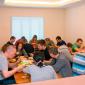 Обед постояльцев в реабилитационном наркологическом центре «Инсайт» (Владивосток)