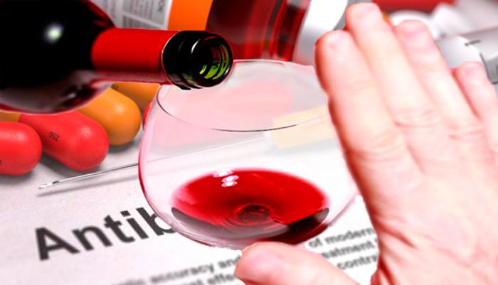 Умеренный прием спиртного в период лечения антибиотиками
