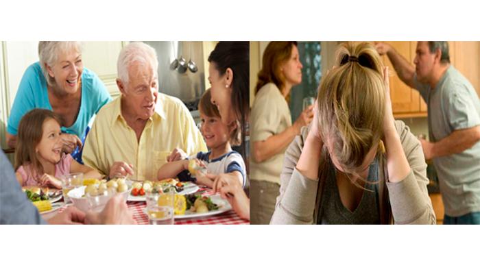 Отличие нормального семейного застолья от поседелок пьющей семьи