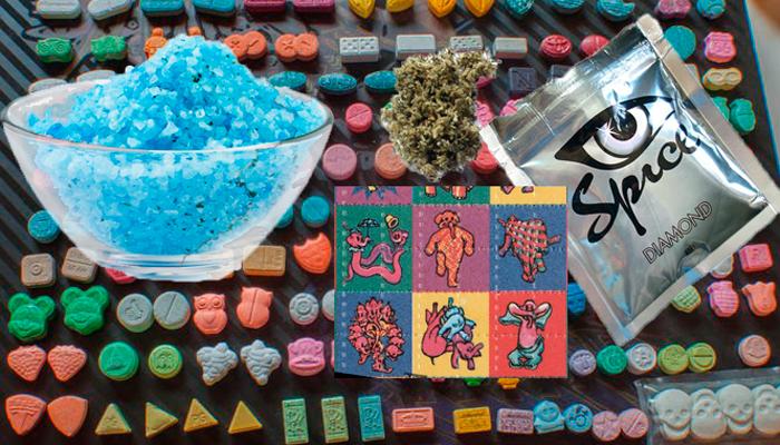 Виды дизайнерских наркотиков