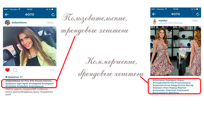 Хэштеги под фото в Инстаграме