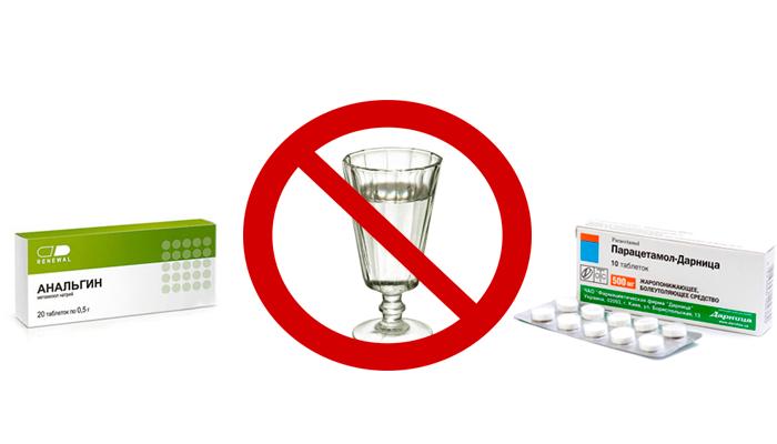 Запрет на смешивание алкоголя с обезболивающими и антисептическими препаратами