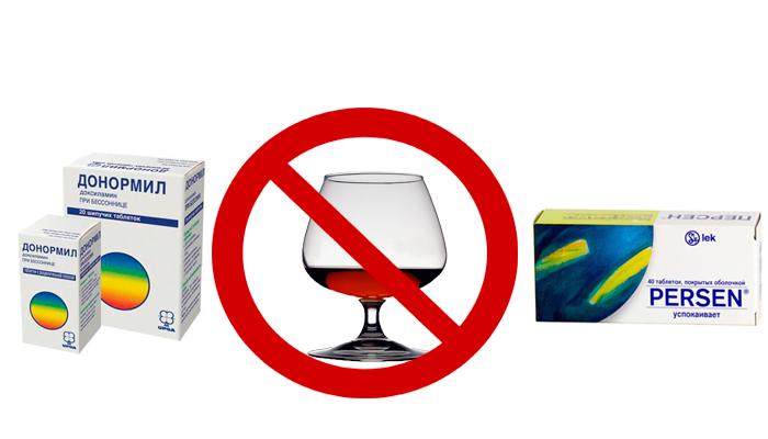 Запрет на совместный прием снотворных и седативных препаратов со спиртным