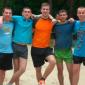 Игра постояльцев в футбол в реабилитационном центре «Шаг к жизни» (Одесса)