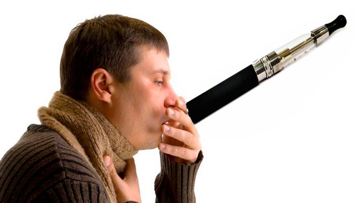 Кашель в следствии курения электронной сигареты