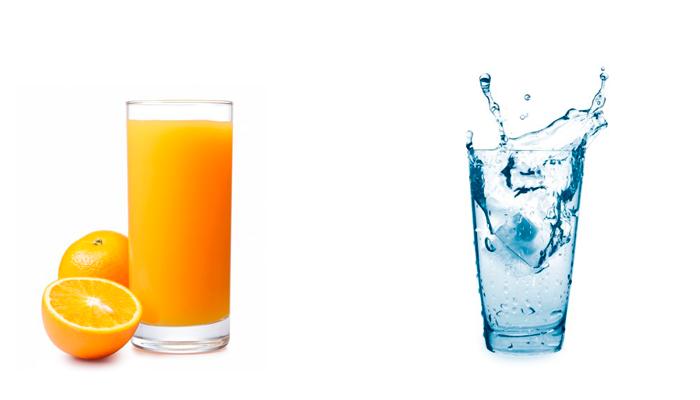 Употребление соков и минеральной воды для вывода токсинов из организма