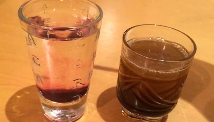 Определение этилового от метилового спирта с помощью марганцовки