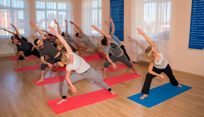 Спортивные занятия постояльцев в реабилитационном наркологическом центре «Решение» (Йошкар-Ола)