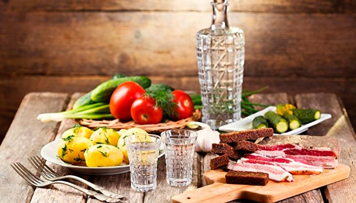 Хорошая закуска для снижения длительности похмельного синдрома