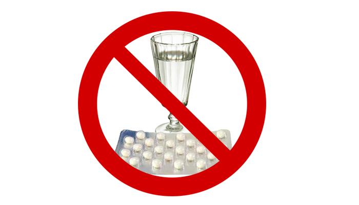Запрет на смешивание спиртного со снотворными препаратами