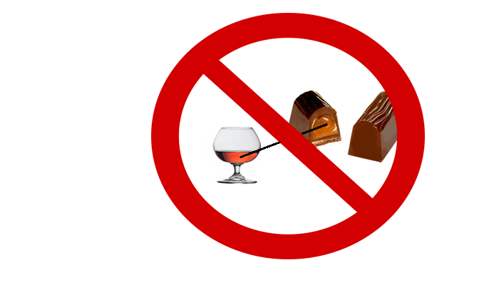 Запрет на употребление продуктов содержащих алкоголь при лечении Эспералем