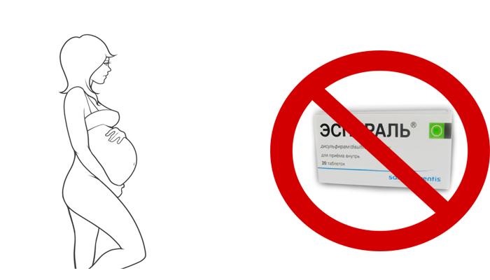Запрет на употребление лекарства Эспераль при беременности