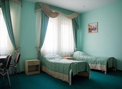 Спальные комнаты, в наркологическом центре «Ренессанс» (Киев)