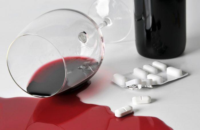 Употребление Феназепама и вина