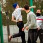 Игра постояльцев в футбол в наркологическом центре «Город Свободы» (Белгород)