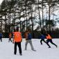 Игра постояльцев в футбол в реабилитационном наркологическом центре «Вершина» (Калининград)